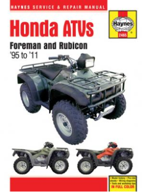 1995 - 2011 Honda Foreman & Rubicon ATV Haynes Service & Repair Manual