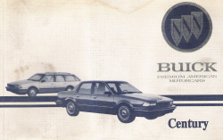 1995 Buick Century Owner's Manual