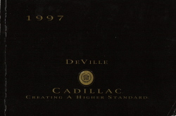 1997 Cadillac DeVille Owner's Manual