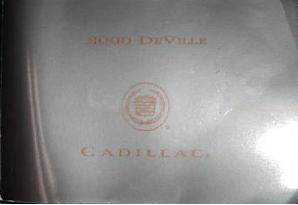 2000 Cadillac Deville Owners Manual Portfolio