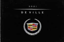 2001 Cadillac DeVille Owner's Manual