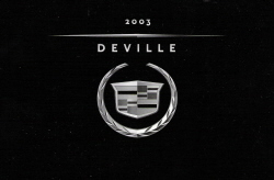 2003 Cadillac DeVille Owner's Manual