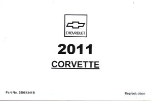 2011 Chevrolet Corvette Factory Owner's Manual