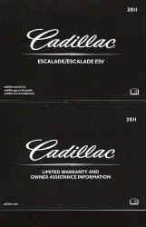 2011 Cadillac Escalade and Escalade ESV Factory Owner's Manual Portfolio