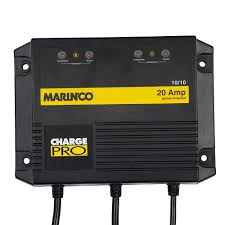 Marinco  Charger 20A (10/10) / 12/24V 2 Bank 120V Input On-Board Battery