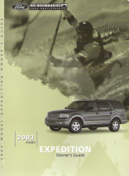 2003 Ford Expedition Owner's Manual with Case