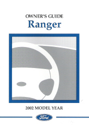 2002 Ford Ranger Owner's Manual with Case