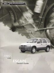 2002 Ford Escape Owner's Manual Kit