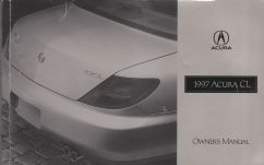 1997 Acura CL Owner's Manual