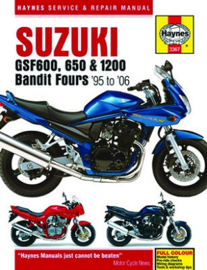 1996 - 2006 Suzuki GFS600, 650 & 1200 Bandit Fours Haynes Repair Manual