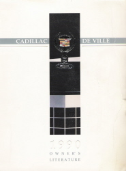 1990 Cadillac Deville Owner's Manual