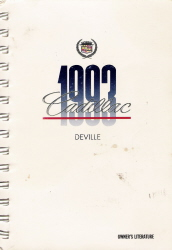 1993 Cadillac Deville Owner's Manual Package