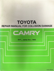 1982 Toyota Camry Collision Damage Factory Service Manual