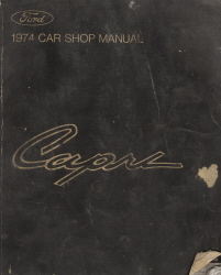 1974 Mercury Capri Factory Service Manual