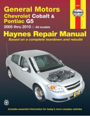 2005 - 10 Chevrolet Cobalt, 2005 - 06 Pursuit & 2007 - 09 Pontiac G5 Haynes Repair Manual