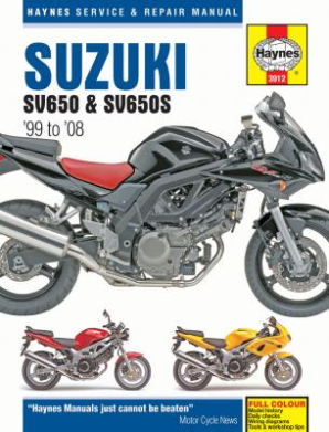 1999 - 2008 Suzuki SV650, SV650S & SV650SA Haynes Motorcycle Repair Manual