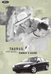 2003 Ford Taurus Owner's Manual with Case