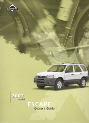 2003 Ford Escape Owner's Manual with Case