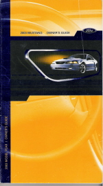 2003 Ford Mustang Owner's Manual with Case
