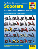 1996 - 2011 50 - 250cc Twist and Go Scooters Haynes Repair Manual