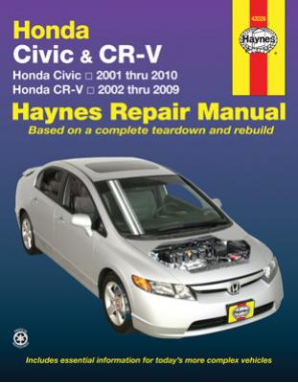 2001 - 2010 Honda Civic and CR-V Haynes Repair Manual