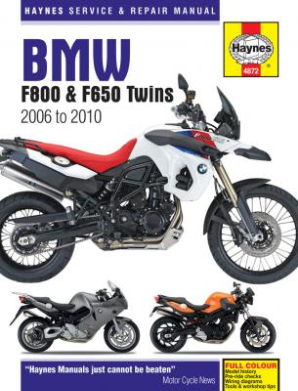 2006 - 2010 BMW F800 and F650 Twins Haynes Repair Manual