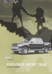 2004 Ford Explorer Sport Trac Owner's Manual with Case