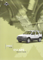 2004 Ford Escape Owner's Manual with Case