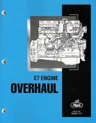 Mack E7 -728 c.u. 12L, Six Cylinder Diesel Factory Engine Overhaul Manual
