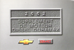2002 GMC Sierra Factory Owner's Manual Diesel Supplement in Spanish