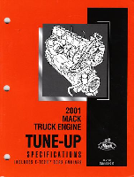 Mack Truck 2001 E-Tech Engine Tune-Up Specifications