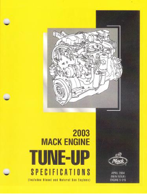 Mack Truck 2003 Engine Tune-Up Specifications