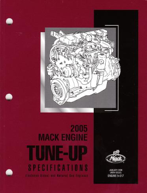 Mack Truck 2005 Engine Tune-Up Specifications