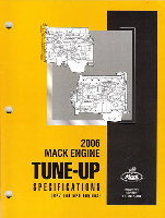 Mack Truck 2006 Engine Tune-Up Specifications