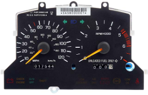 1994 - 1995 Ford Mustang Instrument Cluster Repair (2 Gauge, w/ Tach)