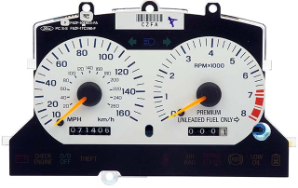 1996 - 1998 Ford Mustang SVT Cobra Instrument Cluster Repair (White, 160MPH)