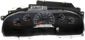 1998 Ford E-350, Super Duty, Club Wagon Econoline Van Instrument Cluster (Diesel)