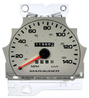 2003 - 2004 Mercury Marauder Instrument Cluster Repair (with 140MPH)