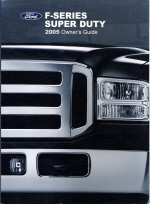 2005 Ford F-Series Super Duty Owner's Manual with Case