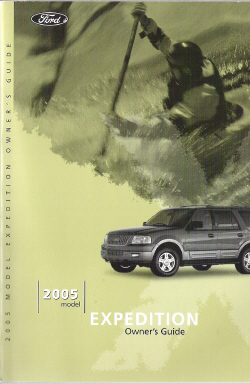 2005 Ford Expedition Owners Manual with Case