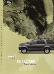 2005 Ford Explorer Owner's Manual with Case