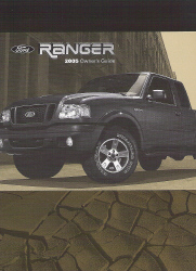 2005 Ford Ranger Owner's Manual with Case