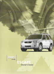 2005 Ford Escape Owner's Manual with Case