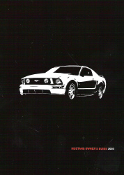 2005 Ford Mustang Owner's Manual with Case