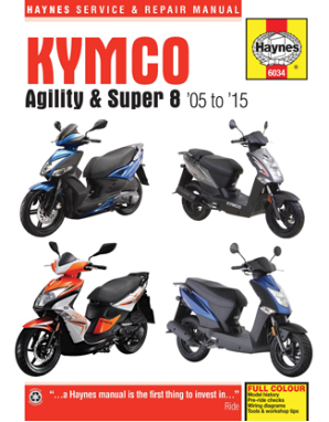 2005 - 2015 Kymco Agility & Super 8 Scooters Haynes Repair Manual