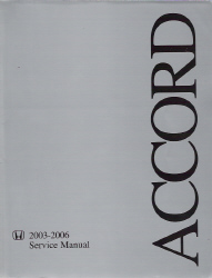 2003 - 2006 Honda Accord V6 Engine Factory Service Manual Supplement