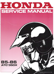 1985 - 1986 Honda ATC 350X Factory Service Manual