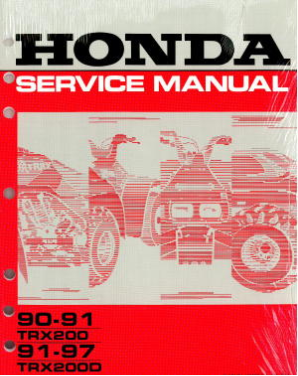 1991 - 1997 Honda TRX200D & 1990 - 1991 TRX200 Factory ATV Service Manual