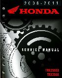 2006 - 2011 Honda TRX250EX & TRX250X Sportrax Factory Service Manual