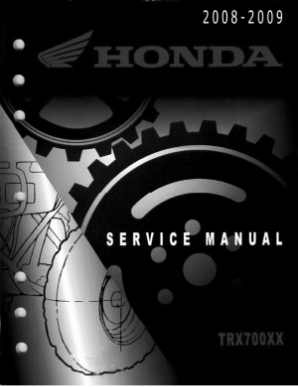 2008 - 2009 Honda TRX700XX ATV Factory Service Repair Manual